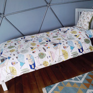 Domes have two single beds