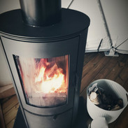Wood burner keeps you toasty