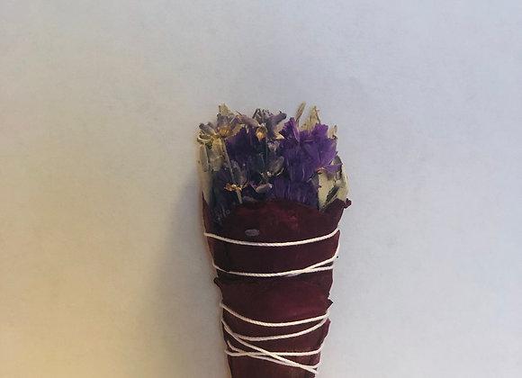Mini White Rose and Lavender Sage Bundle