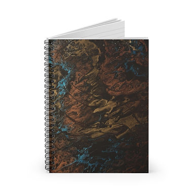 Copper Clouds Spiral Notebook - Ruled Line