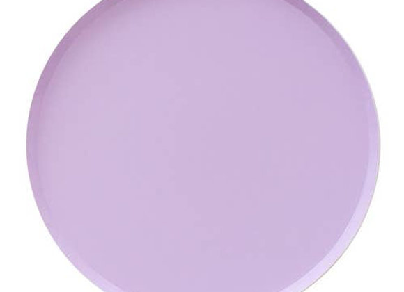 """9"""" round large plate - lilac"""