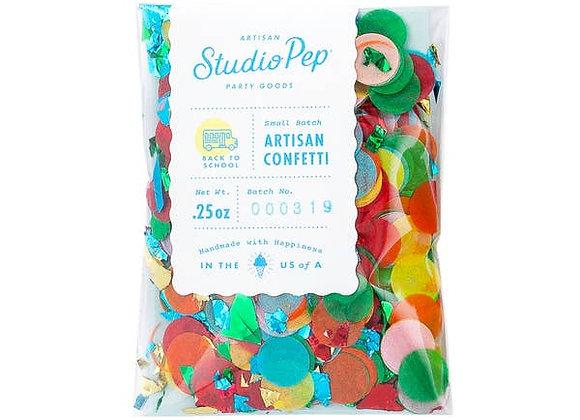 back to school artisan confetti - mini