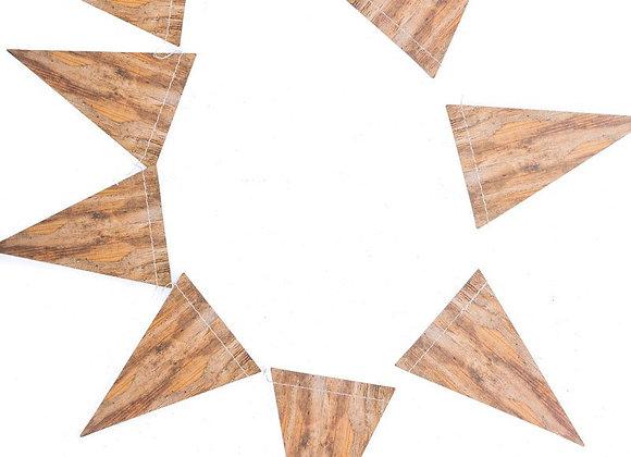 wood pennant banner
