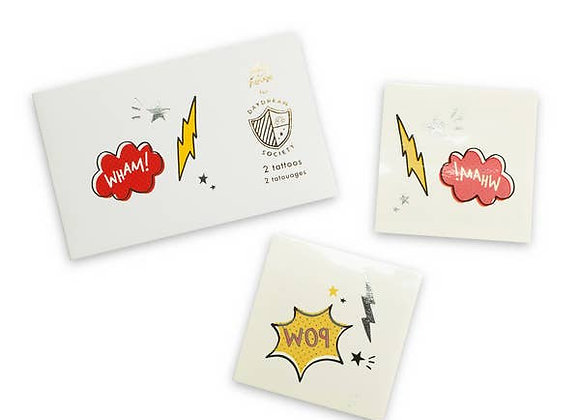 superhero temporary tattoos, pack of 2