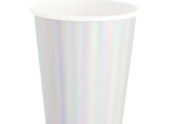 8 oz paper cup: iridescent