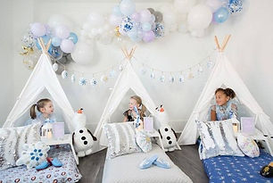 snowflake slumber party rentals