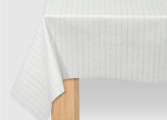mint pinstripe tablecloth