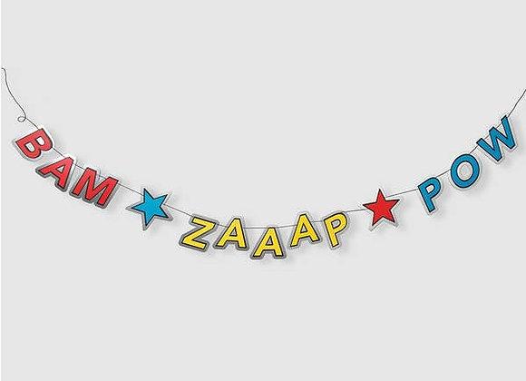 bam, zaaap, pow banner