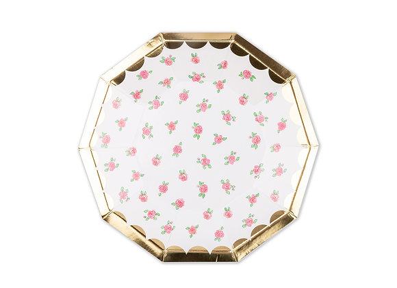 lola dutch tea rose small plates