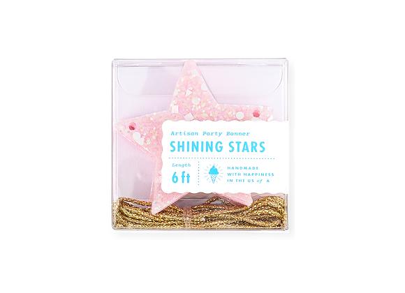 pink star garland