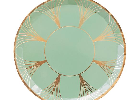 gatz large dinner plate: sage green