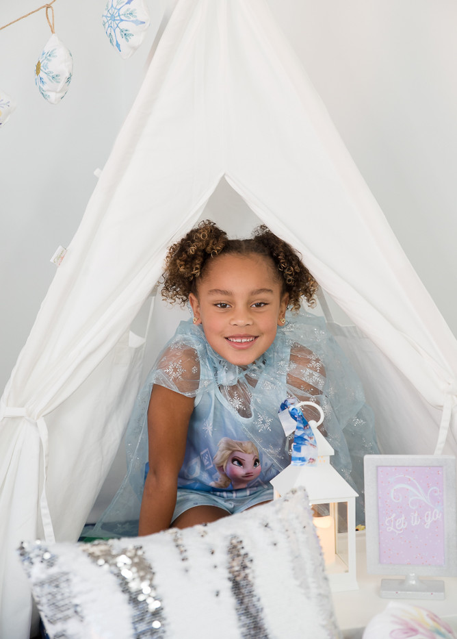 snowflake slumber themed party rentals