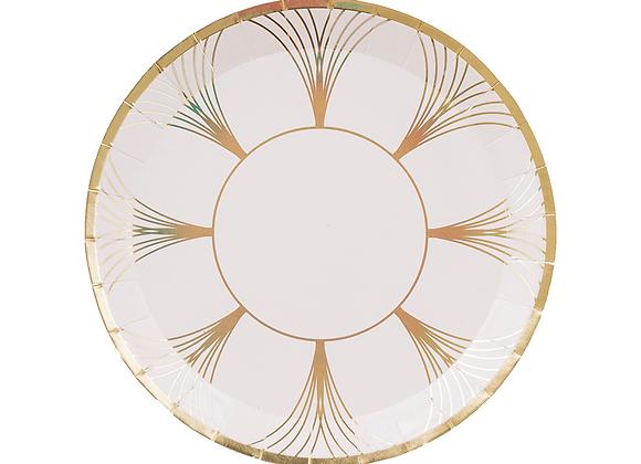gatz small plate: white + gold