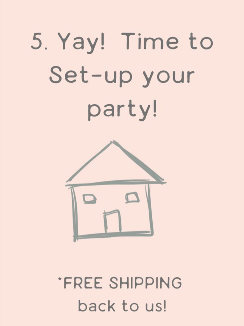 Set up your party!  Return shipping is included.