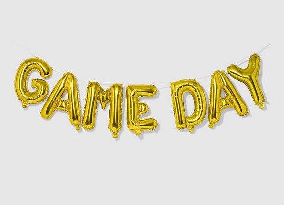 game day balloon banner