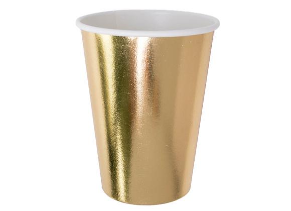 posh 12 oz cup - gold