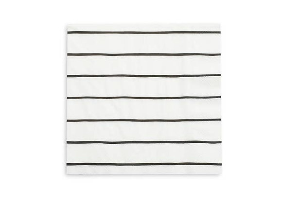 frenchie striped large napkin