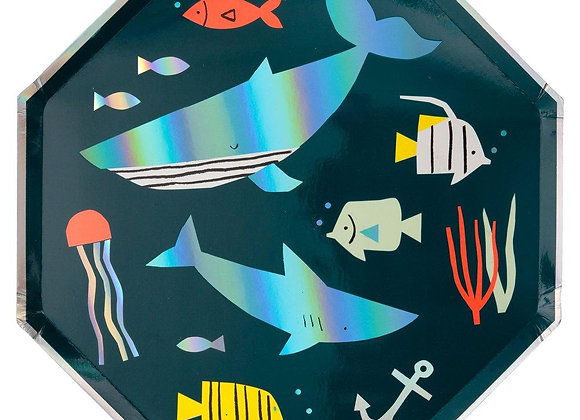 under the sea large plate