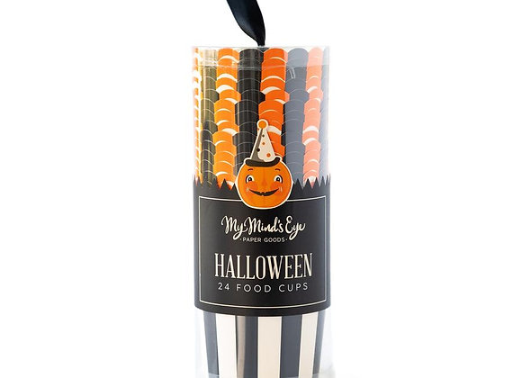 vintage halloween food cups