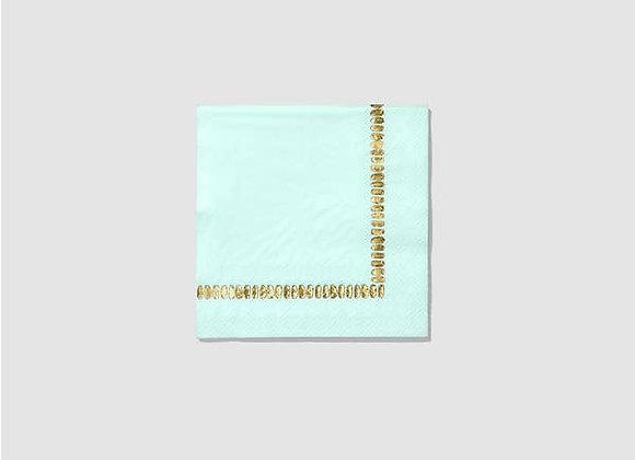 mint brushstroke small napkin