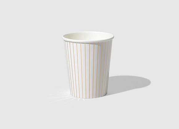 gold pinstripe paper cup (10 count)