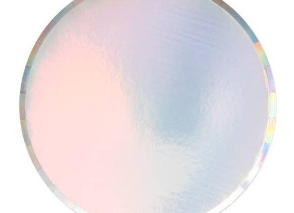 "9"" round large plate - iridescent"