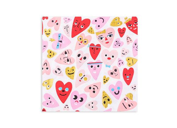heartbeat gang large napkins