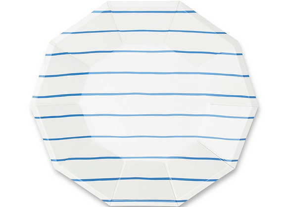 frenchie striped small plate