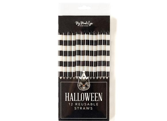 vintage halloween reusable straws