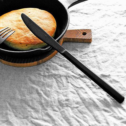 ロクサンブラックカトラリー デザートナイフ