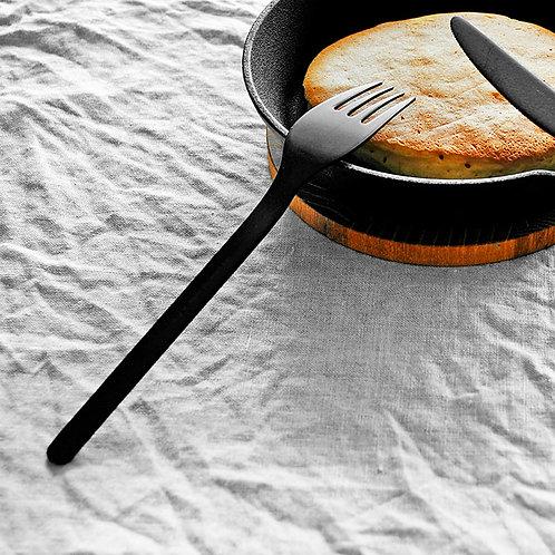 ロクサンブラックカトラリー デザートフォーク