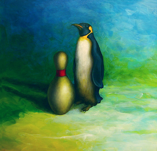 Penguin & Bowling Pin