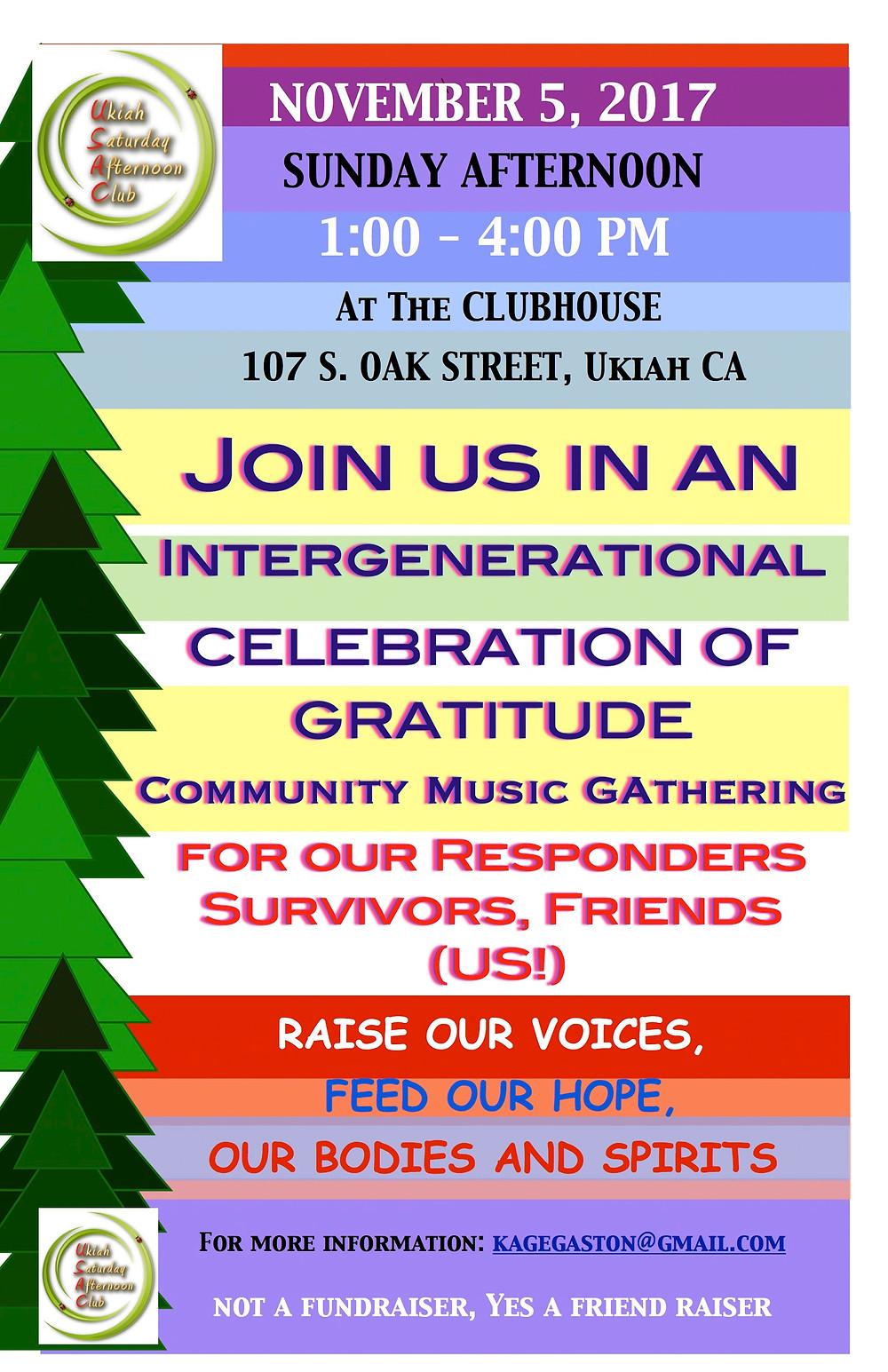 Celebration of Gratitude Concert