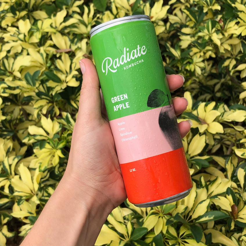 Green Apple Kombucha by Radiate Miami at Mima Market