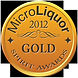 Gold Award at the 2012 MicroLiquor Spirit Awards