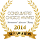 Consumers' Choice Award at the 2014 SIP Awards
