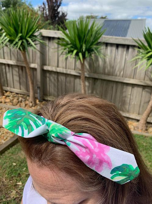 Flamingo and Palms Adjustable Headband