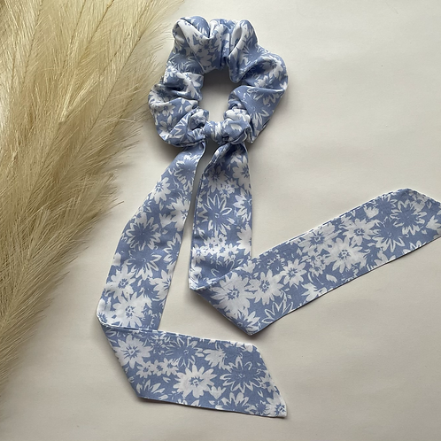 Light Blue Floral Long Tie