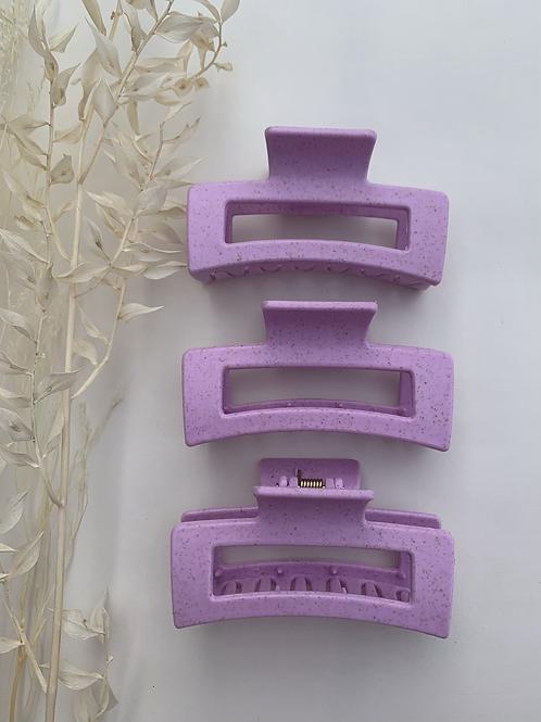 Speckle Purple Hair Clip