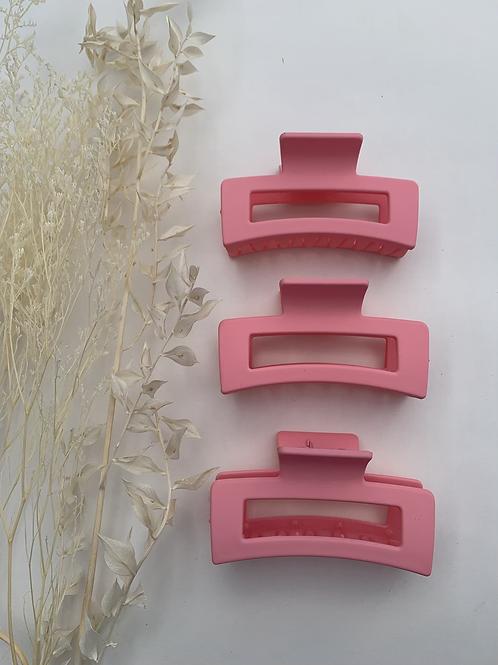 Bubble Gum Pink Hair Clip