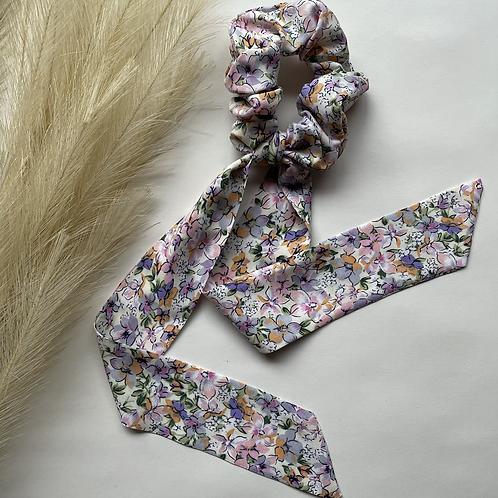 Rainbow Floral Long Tie
