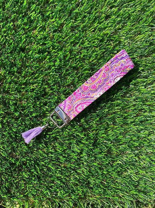 Pink Paisley Keychain