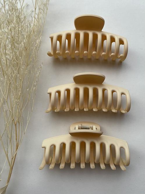 Medium Cream Hair Clip