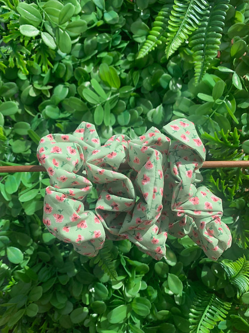 Green with Small Pink Floral