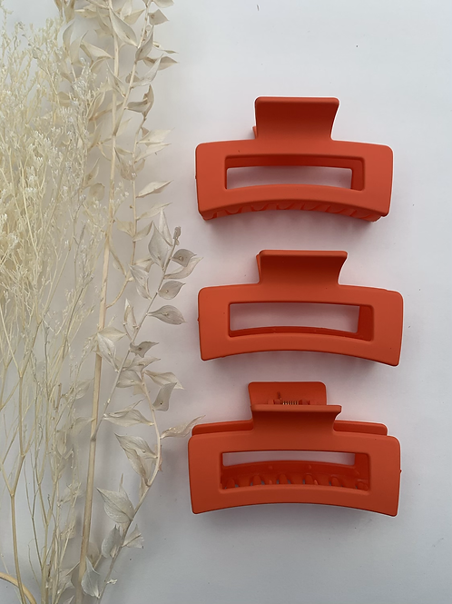 Bright Orange Hair Clip