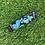 Thumbnail: Dark Blue Floral Keychain