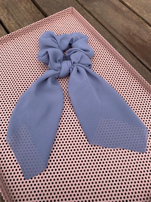 Purple/Grey  Scarf Scrunchie