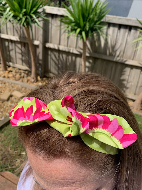 Pink Floral Adjustable Headband
