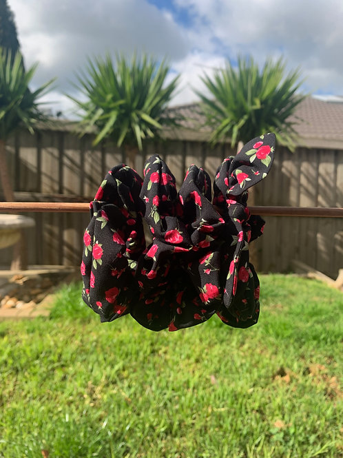 Black with Pink Flowers