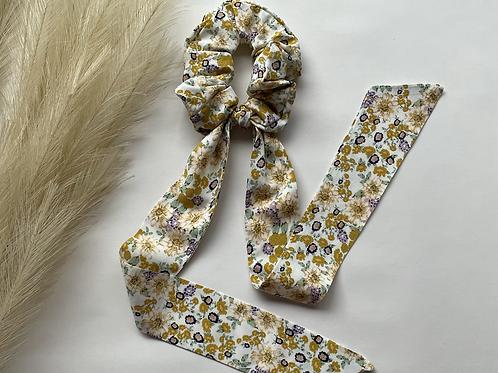 Yellow Wildflower Long Tie